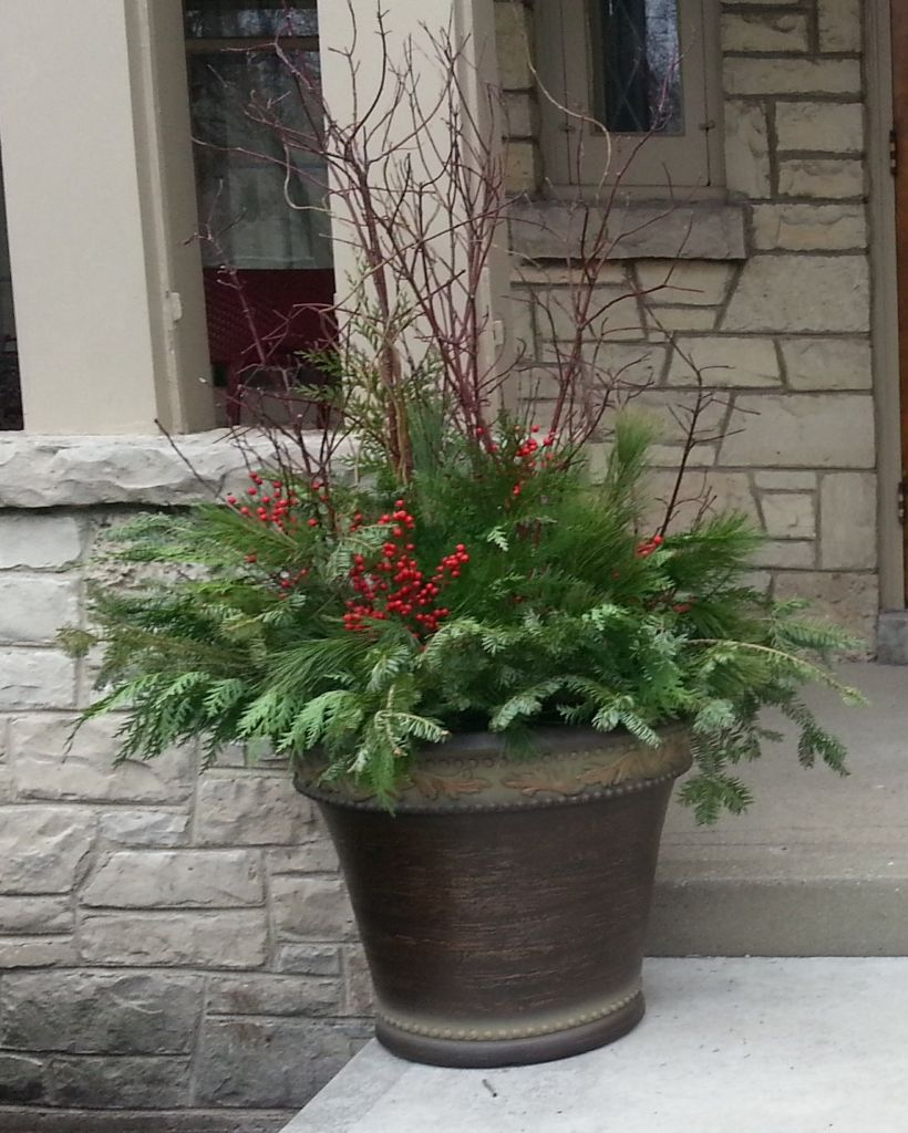 Outdoor Holiday Containers Milwaukee Landscaping